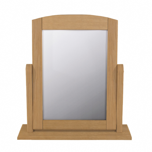 Single Oak Dressing Table Mirror